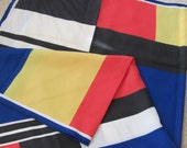 """Large Colorful Soft Poly Scarf 30"""" Square"""