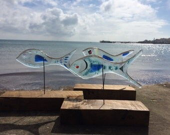 Recycled Fused Glass Fish - Bespoke Order...