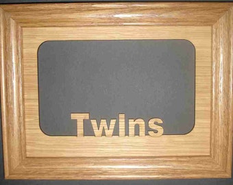 5x7 Twins Picture Frame Gift for Siblings, Family Picture Frame, Custom Picture Frame, Laser Engraved Frame