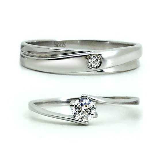 engraved his and hers promise rings couples by onlyuniquegifts