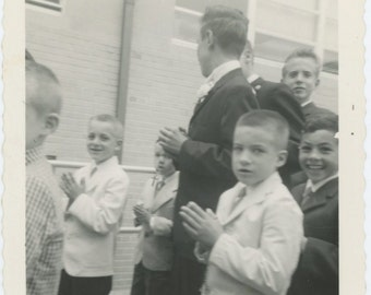 Good, Pious Boys, 1961: Vintage Photo Snapshot