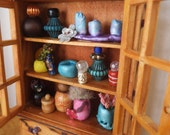Enchanting Little Fairy Closet...Wood Burned,Stained and Filled With Goodies...One of a Kind!