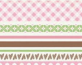 Sew Cherry Stripe Lori Holt 1 Yard Cut