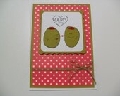 Handmade Anniversary/Love Card - Olive You - Cute Olive Pun Card - BLANK Inside