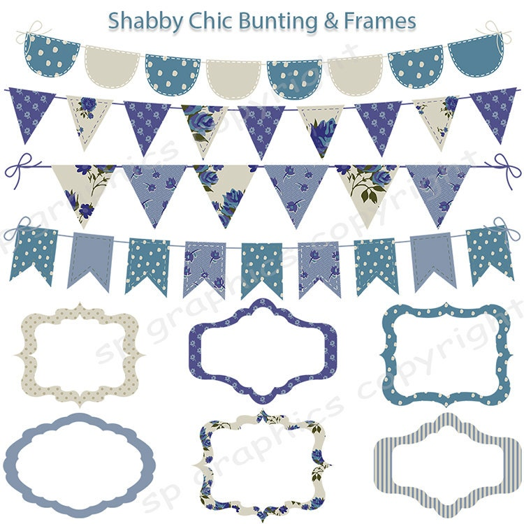 shabby chic bunting - photo #21