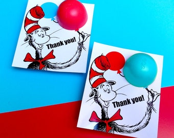 Dr Seuss Baby Shower Favors EOS lip balm - DIY Printable Thank you Tags for Dr Seuss Baby Shower Favors with EOS lip balm