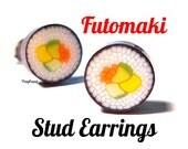 Vegetarian Sushi Roll Stud Earrings