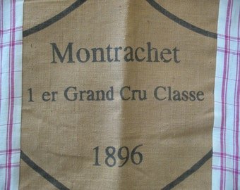 Burlap and Muslin French Country Pillow Cover