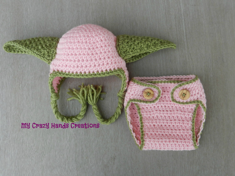 Star Wars Yoda crochet hat and diaper by Mycrazyhandscreation