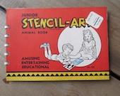 Vintage Stencil Book Junior Stencil-Art Animal Book