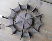 Vintage Primitive Garden Art Cast Iron Vintage Gear or Rusty Burner
