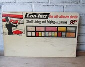 Vintage Store Display Advertising Con-Tact Shelf Liner