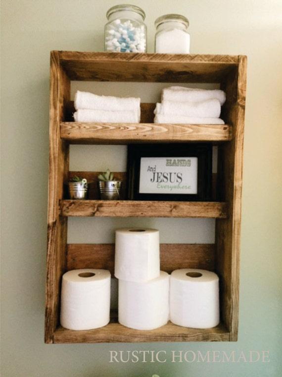 Simple Reclaimed Wood Shelves Medicine Cabinet Cubby Shelf Bathroom Wall