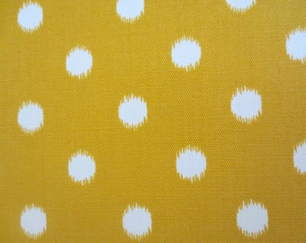 OUTDOOR Pillow Cover in a Yellow and White Polka Dot Print