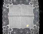 Keepsake Bridal Handkerchief Wedding Hanky Vintage Unused Hankerchief Lace