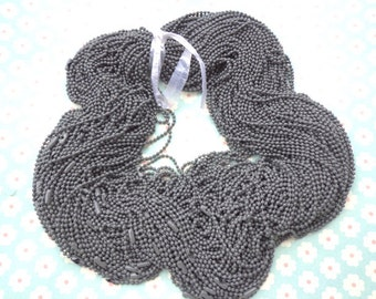50  PCS Gray  Ball Chain Necklaces - 27 inch, 2.4mm