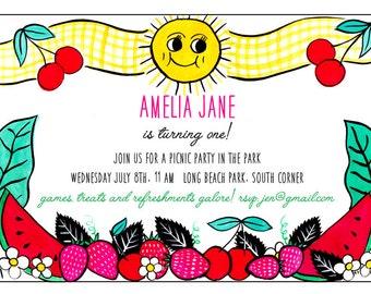 Customized Summer Invitation
