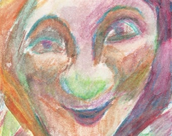 Original ACEO Watercolor Painting- Mrs. Big Nose