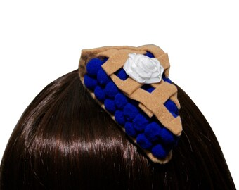 Sweet Blueberry Pie Slice Hair Clip or Headband - Made to Order