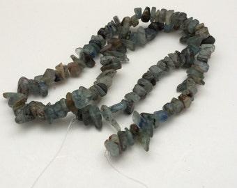 Kyanite Chip Gemstone Loose Bead strand, Destash, Jewelry supplies, loose beads, kyanite beads, kyanite pebble beads