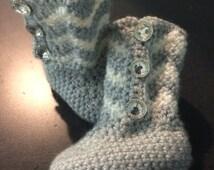 Crochet Chevron Baby Boots - Crochet Baby Boots - Handmade Baby Boots - 0-3 Mos - 3-6 Mos - 6-12 Mos - 12-18 Mos