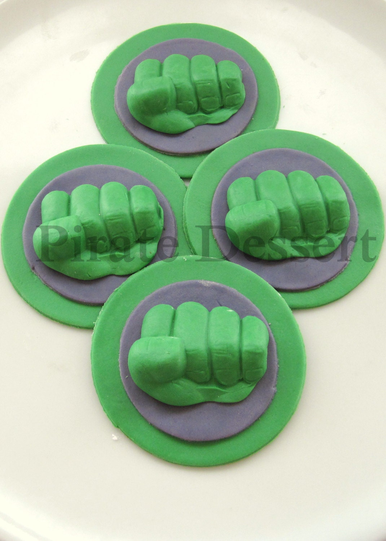 The Incredible HULK Edible SUPERHERO Cupcake Toppers