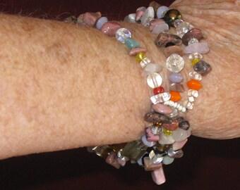Beggar's 3-strand Stretchy Bracelet