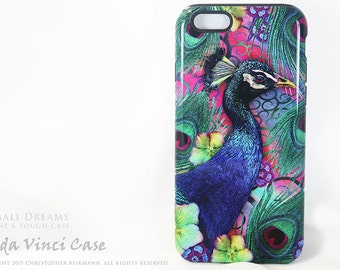 Peacock iPhone 6s Case - Artistic iPhone 6 Case - Nemali Dreams  - Colorful Floral Case For iPhone 6 6s