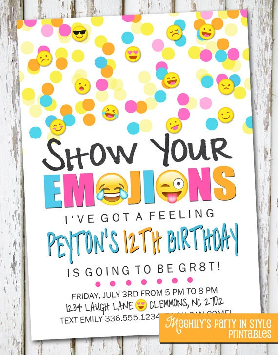 emoji invite emoji invite emoji invitation emoji birthday, Birthday invitations