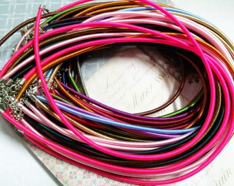"""Wholesale Necklaces Necklace Cord Silk Necklace Cord Assorted Colors 18"""" Each 20 strands"""