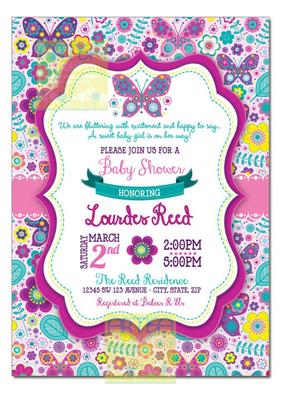 Butterfly Baby Shower Invitation Butterflies By