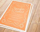 Papel Picado Printable Invitation - Wedding, Engagement, Birthday, Shower