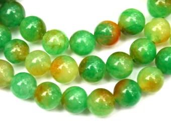 8 mm Watermelon Jade Round Beads