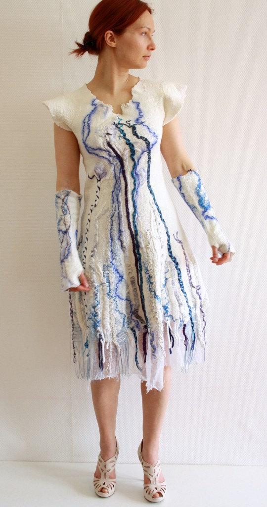 Bohemian Wedding Gown Tribal Wedding Dress Short By Hedgiefelt