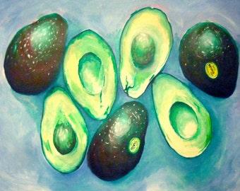 Avocado Still Life - Print from Original
