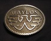 Waylon Jennings Belt Buckle Flying W Pewter Silver/Grey Color Unused/New