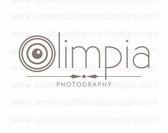 OOAK Premade Logo Design - Camera Lens - Perfect for a professional photographer or a vintage cameras shop