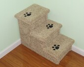 """18"""" High Dog Steps, Cat Steps, All Carpeted and Beautifully Upholstered Pet Stairs. All Wood and Screw Construction. Made in the USA."""