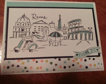 Rome Plaza Greeting Card