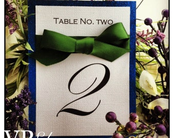 Table numbers, glitter table numbers