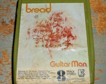 "Bread, 8 Track Tape, ""Guitar Man"",  8 Track Tape Cartridge, Stereo Tape Cartridge, 8 Track, Eight Track"
