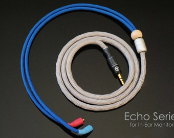 plusSound Echo Series Custom Cable for Ultimate Ears, JH Audio, Shure, Sennheiser, Westone, Customs In-Ear Monitors