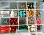 Bulk Lot Jewelry Supplies Findings Wood Beads Vintage Chains Earrings Maori Pendants 2  boxes Good Price Having to Give Away