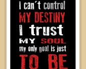 RENT Musical DESTINY Quote modern print poster