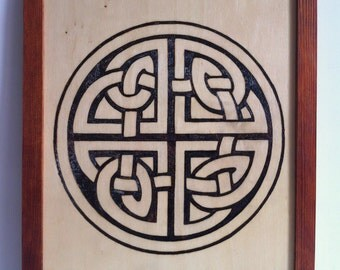 Celtic knot fire wood pyrography