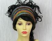 dreadlock headband knitted headband dreads tube hat hair wrap, dread band Colorful tube  Dreadlock accessories