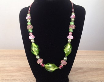 "Beaded Necklace - ""Springtime in the Garden Collection"""