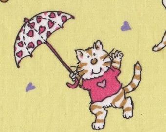 Cats and Umbrellas Retired Cat Fabric FQ