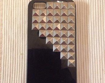 Black studded iPhone 5, 5s or SE case