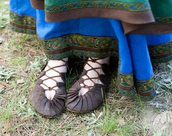 """Leather Womens Shoes """"Shieldmaiden""""; Viking's Leather Sandals ; medieval shoes; womens shoes; ren shoes"""